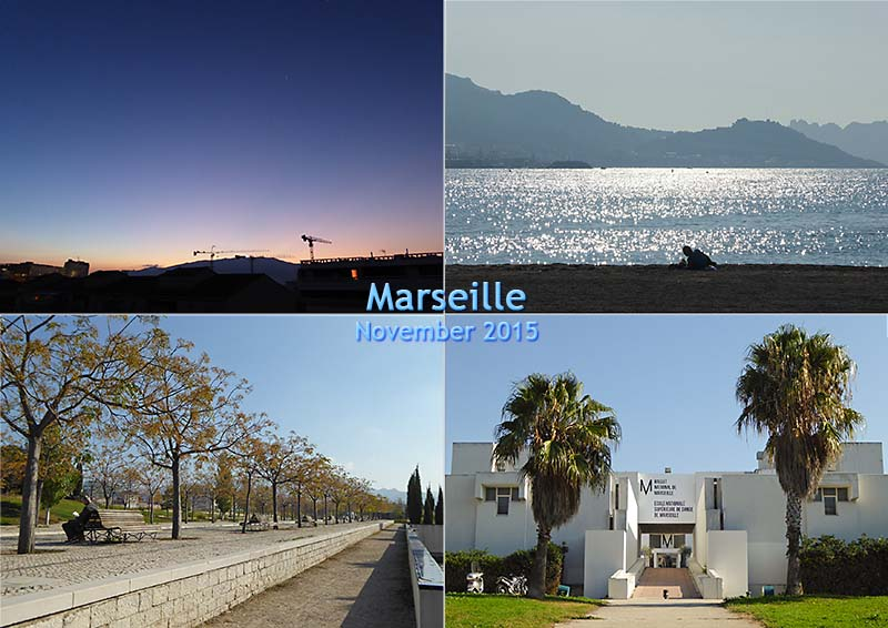 Postcard of photos around the concept of Plus Belle la Vie in Marseille, November 2015