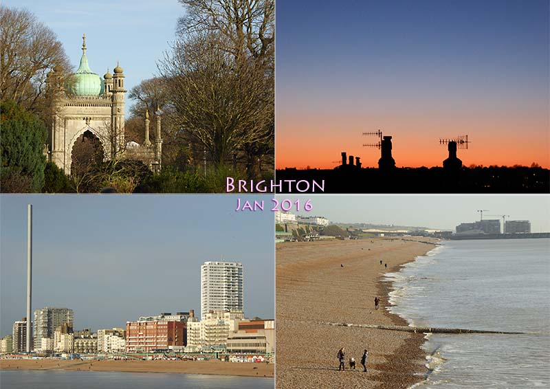 My photo postcard of Brighton, January 2016