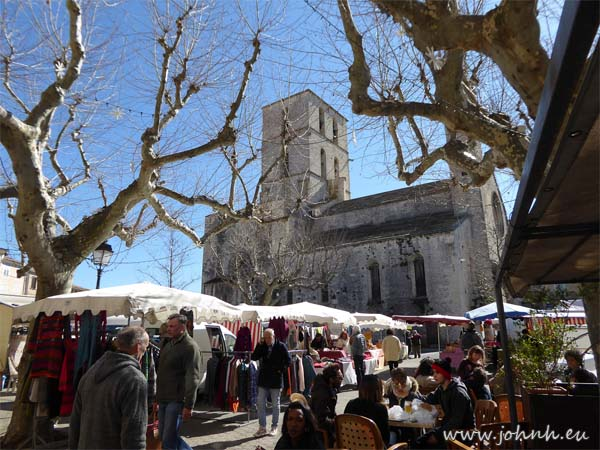 Market day in Forcalquier in the Alpes de Haut Provence