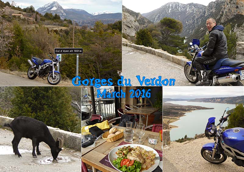My winter biker ride to the Col d'Ayen and the Grand Canyon of the Verdon in Provence