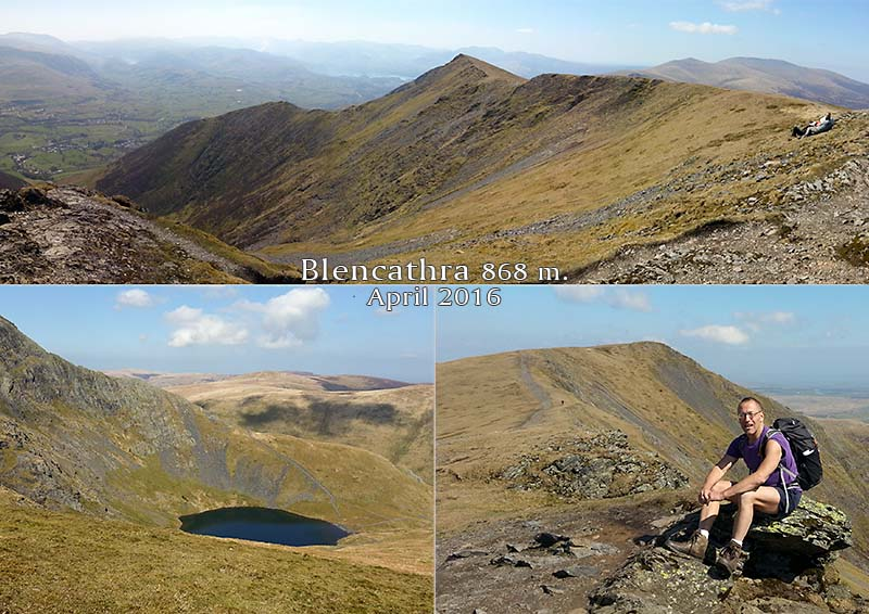 Views from the summit of Blencathra (868 m.) above Keswick, Cumbria