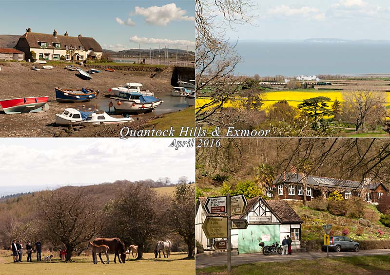 My postcard of a trip to Dunster Castle, Quantock Common and the Black Cat route to Tiverton