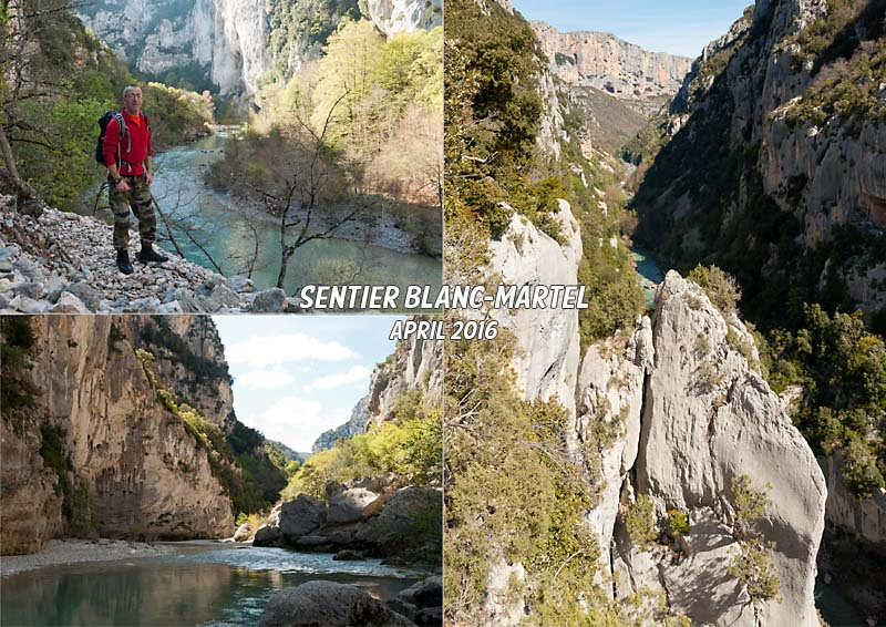 Postcard of my hike along the Sentier Blanc-Martel along the canyon of the river Verdon