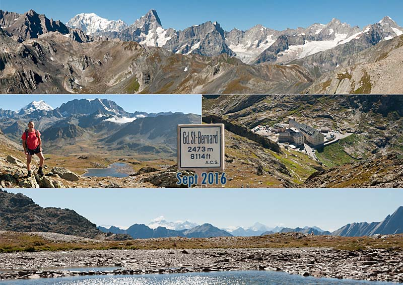 2850m., above the Grand St. Bernard Pass