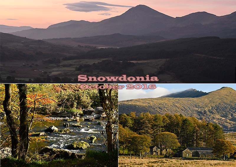 Postcard of my photos of Snowdonia, October 2016