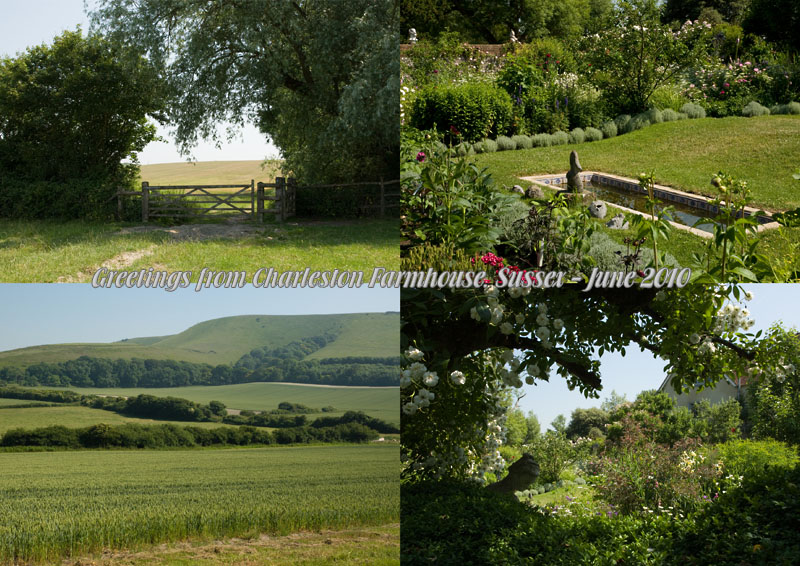 Postcard from Charleston Farmhouse, East Sussex