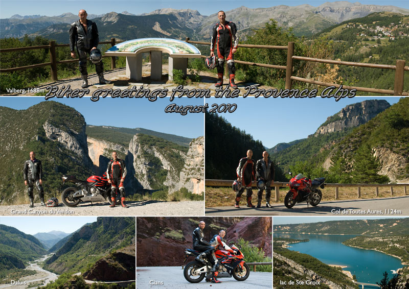 John and Tony biking in the Alpes of Haut Provence