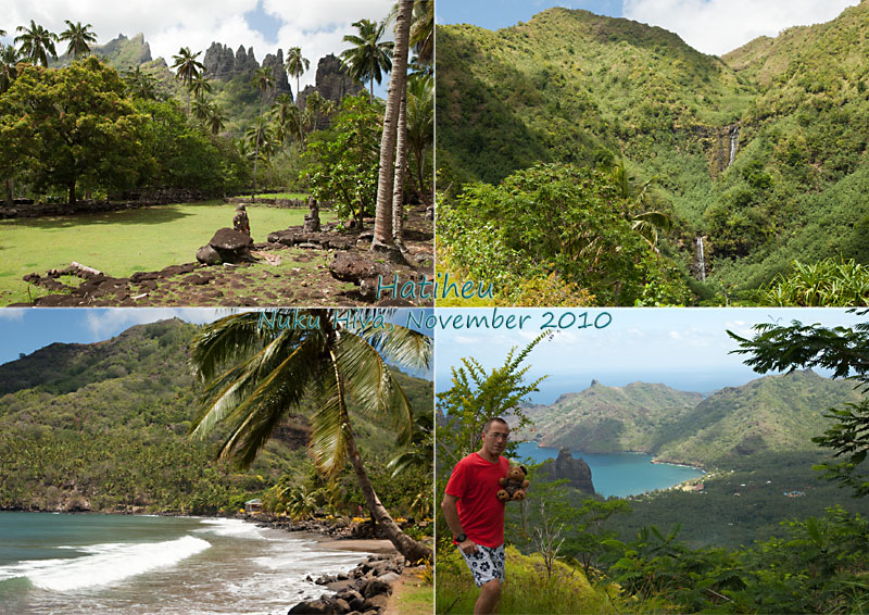 Views of Hatiheu, Nuku Hiva, Marqueasas, French Polynesia