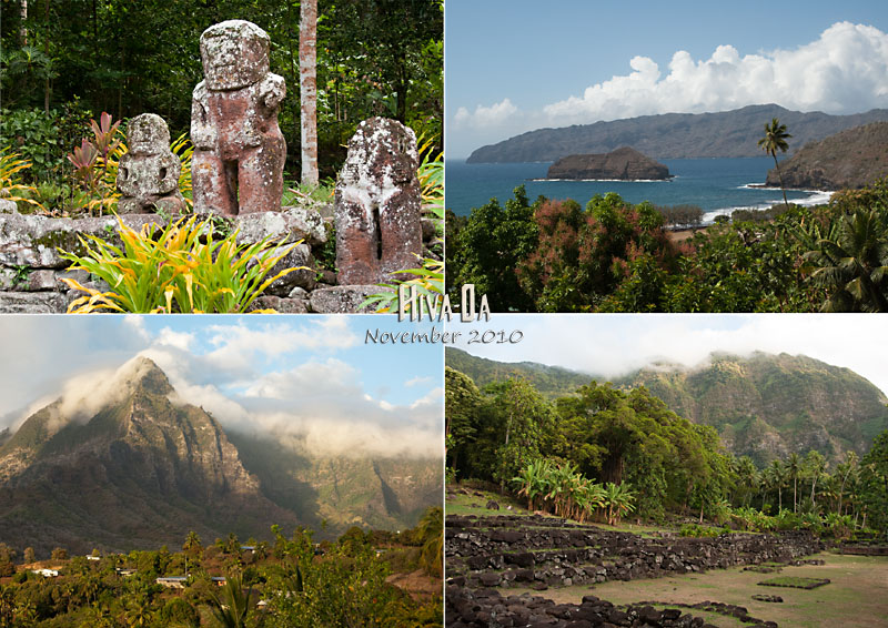 Views of Hiva Oa, Marqueasas, French Polynesia