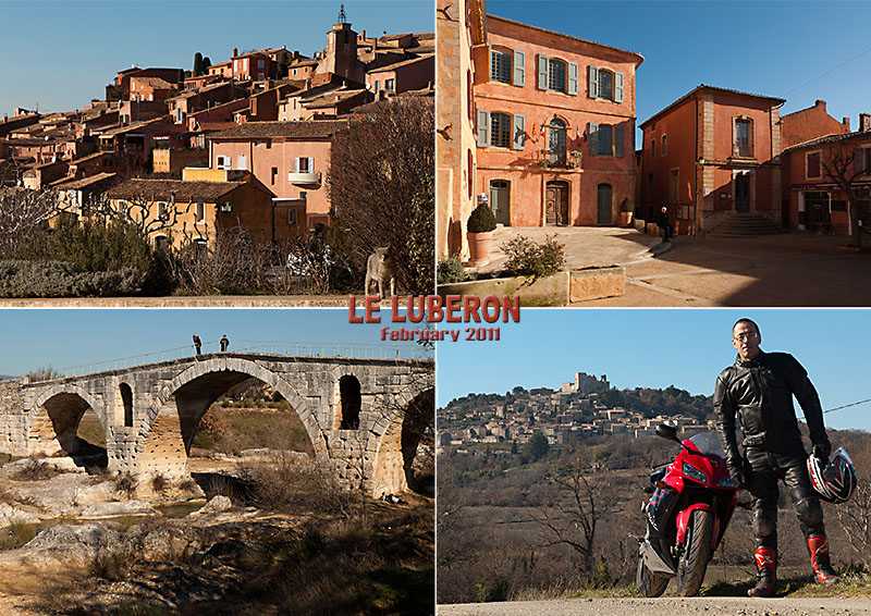 February bike ride in the Luberon, Provence