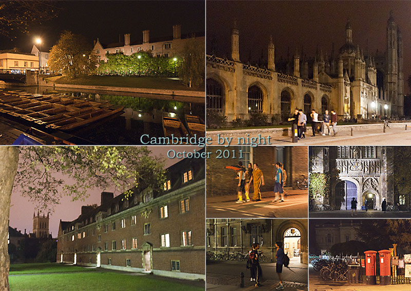 Postcard from Cambridge on the weekend of Hallowe'en and the changing of the clocks back to GMT