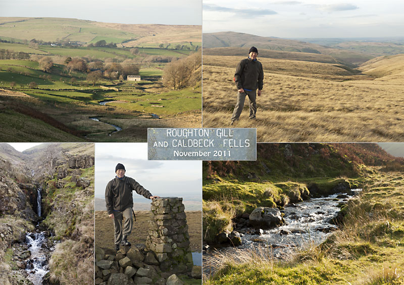 Postcard of my photos of our hike on Caldbeck Fells to High Pike & Roughton Gill, November 2011