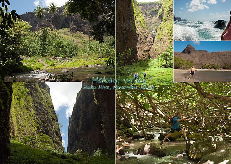 Views of Hakaui valley, Nuku Hiva, Marqueasas, French Polynesia