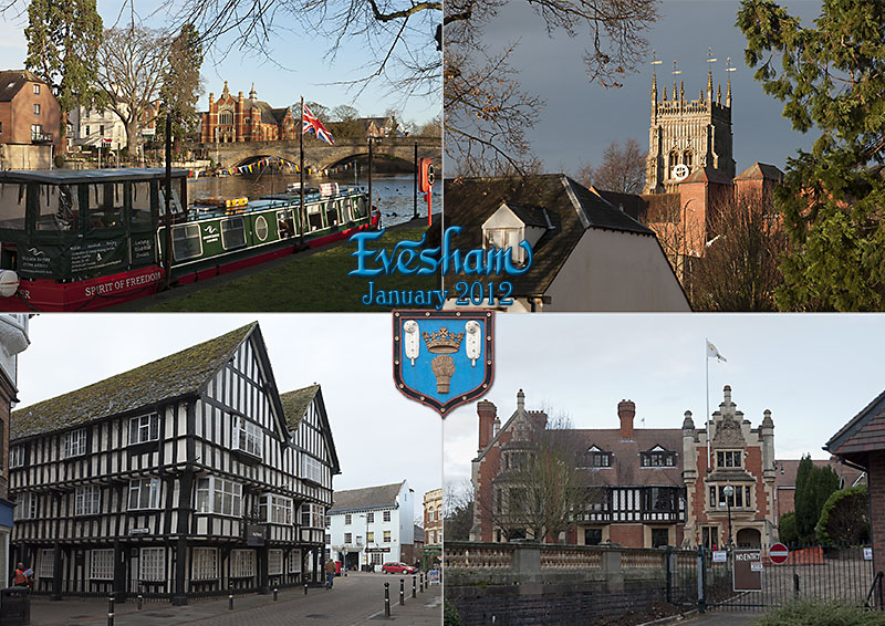 Postcard from Evesham: Wood Norton, the River Avon and Evesham Abbey tower