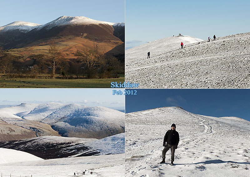 Postcard from Skiddaw, Feb 2012