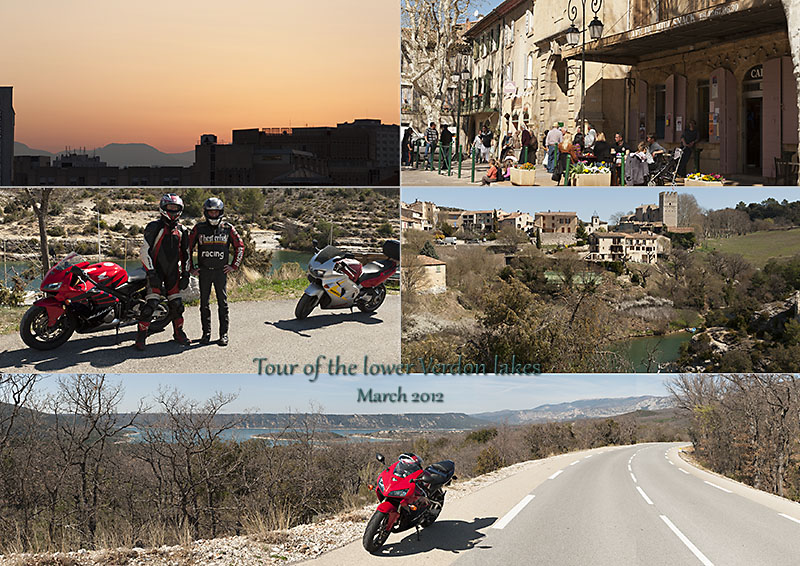 Postcard of my photos a sporty bike ride round the lower Verdon lakes in Provence.