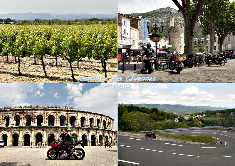 Postcard of my photos of my bike ride to the Corniche des Cévennes, May 2012