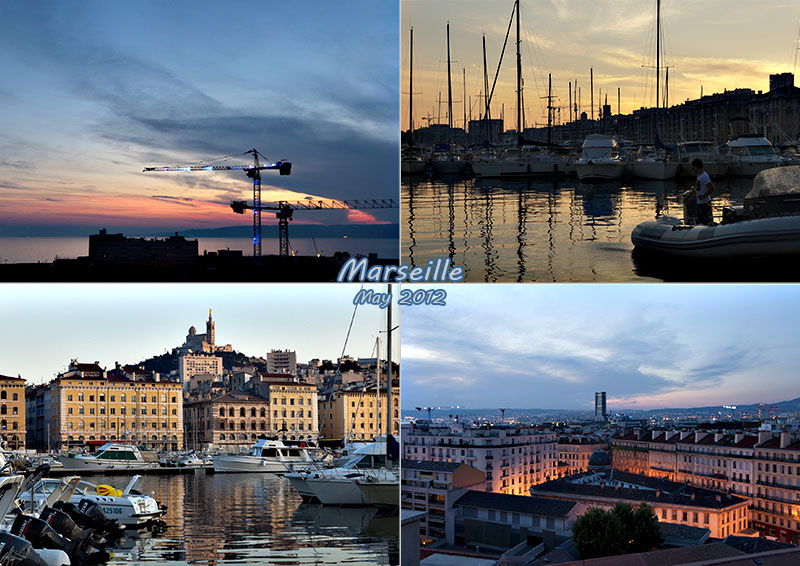 Postcard of my photos of Marseille, Provence, May 2012