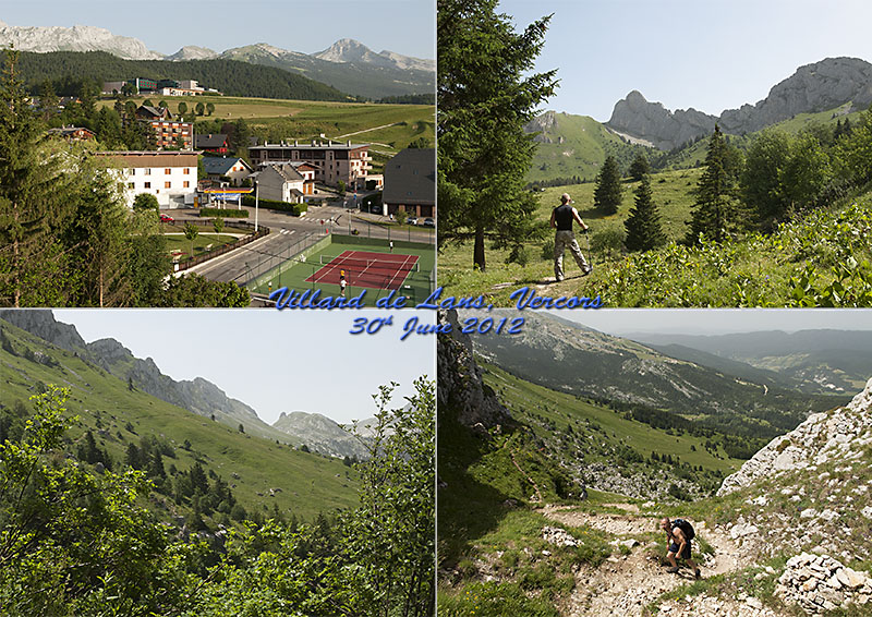 Postcard of my photos of our hike to Col Vert in the Vercors, France
