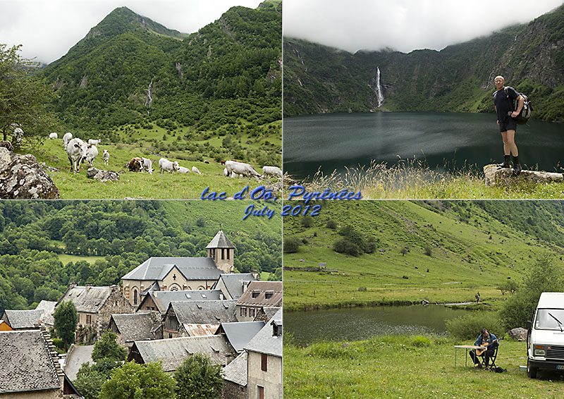 Postcard of the Lac d'Oô in the French Pyrenees
