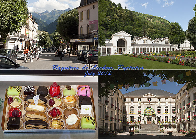 Postcard from Bagneres de Luchon, Pyrenees