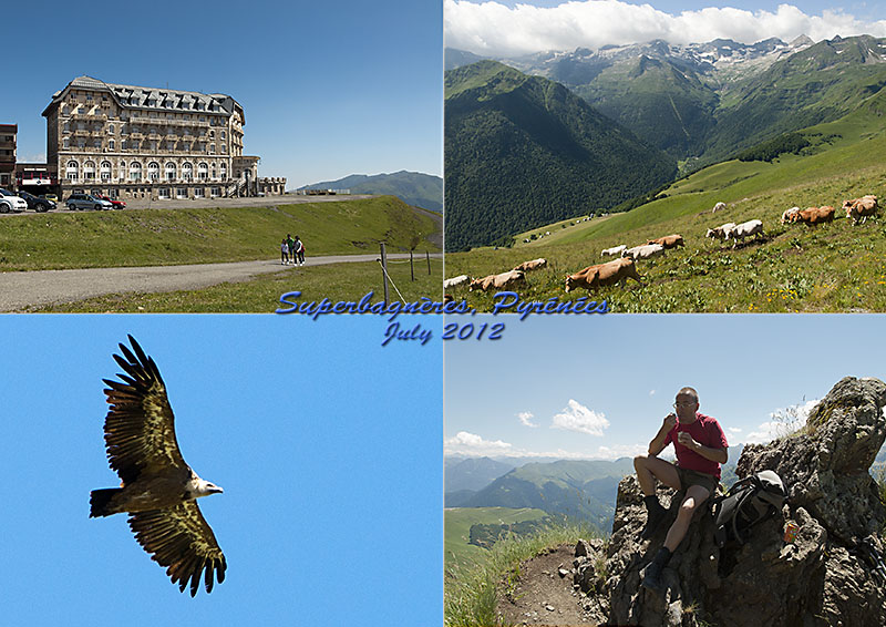 Postcard from Superbagnères in the French Pyrenees