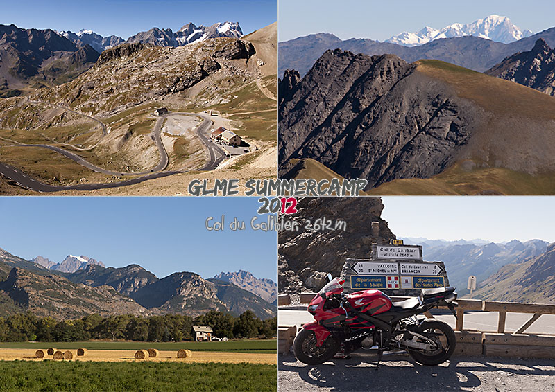 shows photos of the col du Galibier
