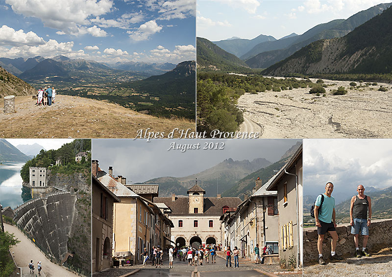 My pictures of the dam of the river Drac at Le Sautet in Champasaur, the Col du Noyer (1664 m) and the valley of the river Béoux. And the impressive citadel and powder store of Mont Dauphin,