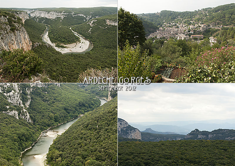 Gorges of the Ardèche, shows river Ardèche, gorges, Largentière