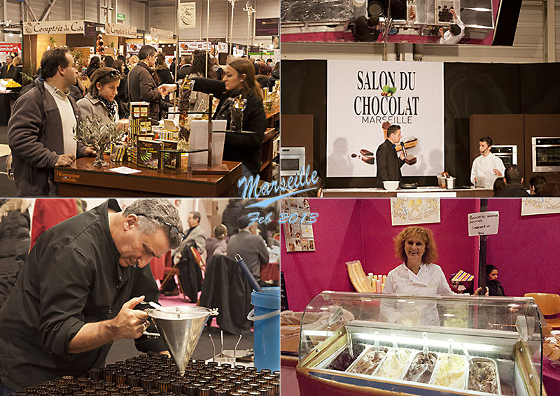 Postcard of my photos of the Salon du chocolat in Marseille, February 2013
