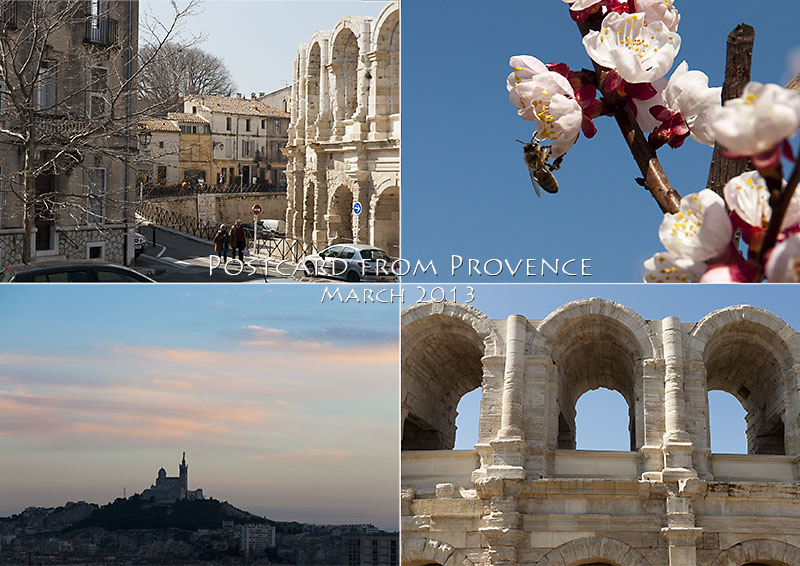 Photos of Provence Spring Colours, shows Arles, Alpilles and Marseille
