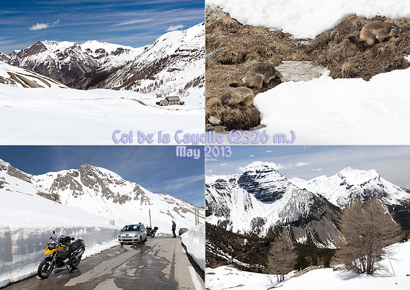 My photo postcard of the Col de la Cayolle between the departments of Alpes-Maritimes and Alpes-de-Haute-Provence in France.