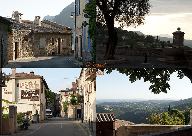 Postcard from St. Jeannet, Porte des Baous in the Alpes Maritimes