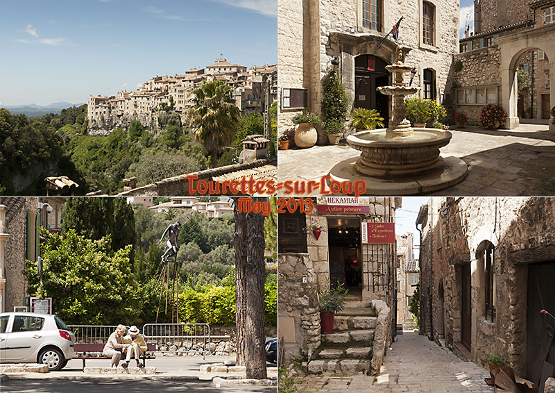 My photo postcard from Tourettes-sur-Loup in the Alpes-Maritimes department in southeastern France