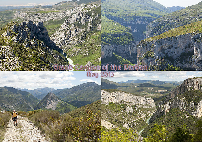 Postcard of my photos of the Grand Canyon du Verdon in the Alpes-de-Haute-Provence in France