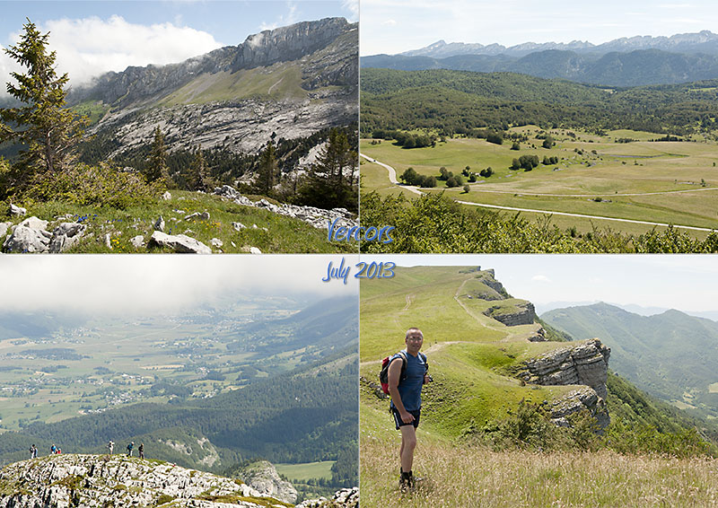 Hiking La Grande Moucherolle and Tête de la Dame in the Vercors, July 2013