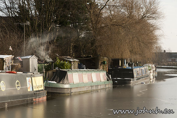 Ice on the canal at Maghull