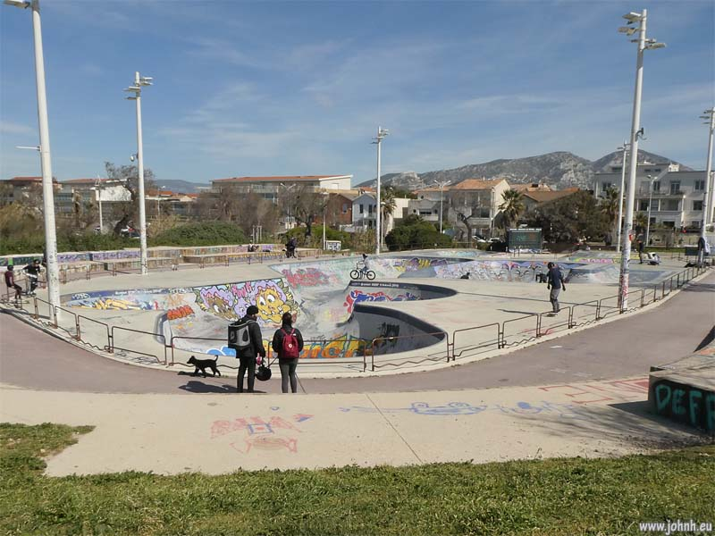 Skate park, Pointe Rouge, Marseille